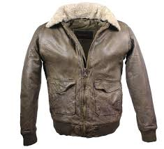 leather jacket pilot style lambskinleather olive