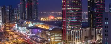 Dubai Lights Doha Qatar Downtown Doha Stopover Hotel Marriott Marquis City Center