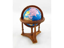 world globe on stand. Dolls House Miniature Study Furniture Walnut Floor Standing World Globe In Stand On K