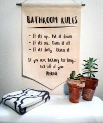Bathroom Rules Wall Decor With Art Home Ideas Picture Website ...