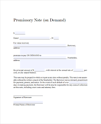 Demand Promissory Note Sample Best 48 Promissory Note Templates Free Sample Example Format Free