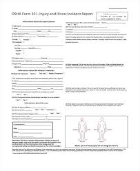 Injury Incident Report Template Incident Report Form Example
