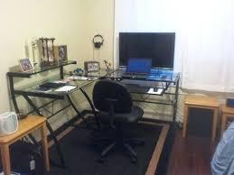 office desk staples. desk plain black l shaped glass zline belaire lshaped computer office staples n