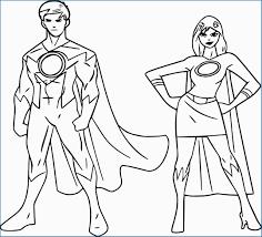 Girl Superhero Coloring Pages Cute Powered Superheroes Super Hero