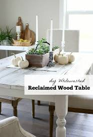 whitewashed reclaimed wood dining table