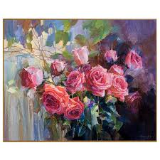 phkv oil painting by numbers drawing nodular red rose flowers wall art diy oil painting by numbers on canvas home decor picture