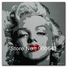 pop art marilyn monroe oil painting face modern canvas 60cmx60cm hand painted wall art girls