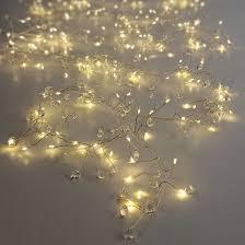 Beaded Fairy Lights Clear Crystal Beaded Fairy Lights Fairy Lights Crystal