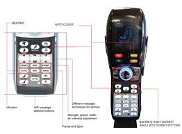 massage chair remote control. the compact remote with large and easy to view lcd screen is packed features. massage chair control y