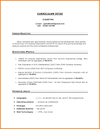Download Resume Format For Freshers It Cover Letter Sample Career