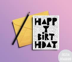 black and white printable birthday cards birthday card download printable birthday card happy birthday