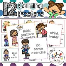 Calm Down Posters Coloring Pages By One Stop Counseling Shop Tpt