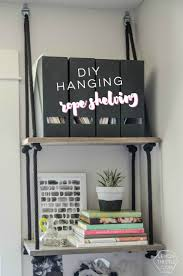 office hanging shelves. DIY Hanging Rope Shelving- Such A Fun Alternative To Bookshelf! Office Shelves