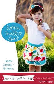 Peek A Boo Patterns Simple PeekaBoo Pattern Shop Sophia Scallop Skirt Downloadable Pattern