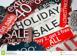 Various Holiday On Sale Signs Stock Image Image Of Christmas