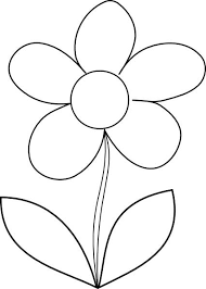 Simple Flower Coloring Page For Kids Free Printable Picture