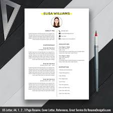 Simple And Clean Resume Template Word Resume Cv Template Cover