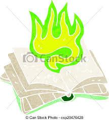 cartoon magic spell book csp20476428