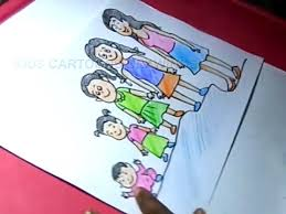 How To Draw Child Growth Chart Poster In Female Drawing