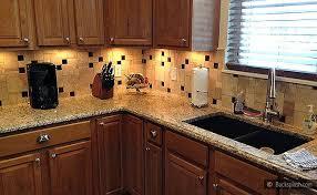 backsplash for santa cecilia granite countertop. Beautiful Countertop Santa Cecilia Granite Travertine Backsplash  Backsplashcom  Kitchen  Products U0026 Ideas In For Countertop