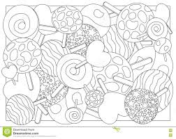 Small Picture Adult Coloring Page Lollipop Candy Illustration Stock Illustration