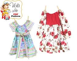 Peasant Dress Pattern Amazing Girls Peasant Dress Pattern Toddler Dress Pattern Girls Etsy