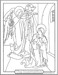 40 Rosary Coloring Pages The Mysteries Of The Rosary Color