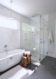 white carrera marble subway tile with dark gray floor and glossy light walls b approved our leelanau house pinterest gray floor grey farmhouse shower i57 grey