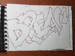 draw graffiti letters for beginners