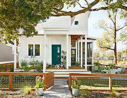 front door teal color fence house