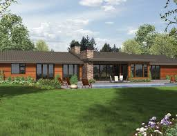 Stunning Contemporary Ranch Home Plan  69510AM  Architectural Contemporary Ranch Floor Plans