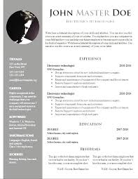 Resume Example Professional Resume Template Download Resume Cover