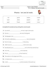 I strongly encourage you to choose just the worksheets that fit the needs and interests of your child. Literacy Phonics Ow And Ai Words Worksheet Primaryleap Co Uk