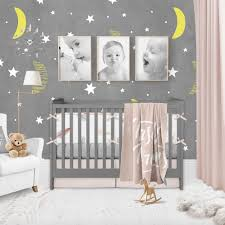 moon and stars nursery wallpaper