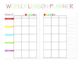 Lesson Plan Value Cross Cu Free Teacher Planner Printable Blank ...