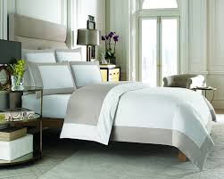 wamsutta hotel micro cotton reversible duvet cover in white taupe