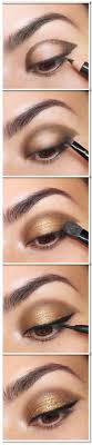 brown and gold eye shadow tutorial