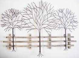 metal wall art trees and branches uk