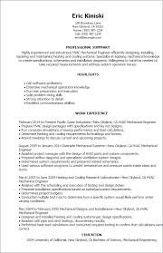 Hvac Resume Template 18 Templates Mechanical Engineer