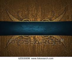 Blue Ribbon Template Stock Illustration Of Gilded Wood Background With Blue Ribbon With
