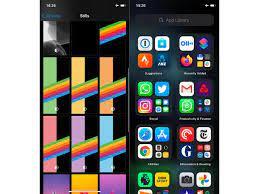 wallpaper settings & App Library categories