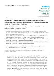 Pdf Genetically Guided Statin Therapy On Statin Perceptions