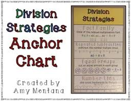 Division Strategies Anchor Chart Freebie