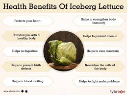 benefits of iceberg lettuce and its side effects