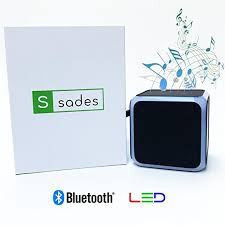 wireless speakers for office. LED Bluetooth Speaker | SADES Best Portable Wireless Speakers Black  Perfect For Travel, Home Office