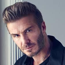 David Beckham Slicked Back Undercut Hair