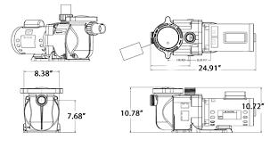 pentair superflo 1 hp dual speed pump 340042 inyopools com super flo dimensions