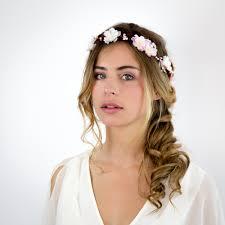 Couronne De Fleurs Et De Baies Mariage Cirrus Blanc Et Rose