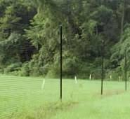 deer fence showing post spacing posts33