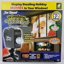 As Seen On Tv Window Wonderland Christmas Decoration Light Projector Bulbhead 11674 Star Shower Window Wonderland Projector Black